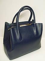 """Женская кожаная сумка """"Voila"""" матово синего цвета"""
