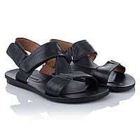 Мужские сандалии кожаные ZleTT (синего цвета, удобные, легкие, стильные)