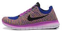 Женские кроссовки Nike Free Run Flyknit 5.0 (найк фри ран) фиолетовые