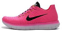 Женские кроссовки Nike Free Run Flyknit 5.0 (найк фри ран) розовые