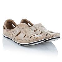 Летние мужские туфли с кожи натуральной Fado (комфортные, модные, удобные, легкие, стильные)