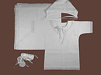 Крестильная рубашка для мальчика с крыжмой. Модель Angel