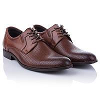 Мужские туфли со шнурками Tapi (коричневые, стильные, открытый тип шнуровки, модные, удобные)