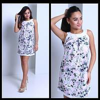 Женское нежное платье на лето с цветочным принтом (2 цвета)