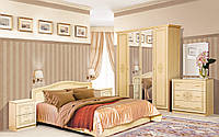 Спальня Флоренция 4Д (светлый венге лак) (Світ Меблів TM)