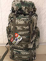 Большой камуфляжный туристический рюкзак для охоты и рыбалки 8492 Б