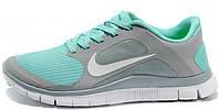 Женские кроссовки Nike Free Run 4.0 (найк фри ран) бирюзовые