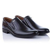 Мужские черные туфли классические Tapi (стильные, классический дизайн, модные, удобные, комфортные)