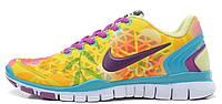 Женские кроссовки Nike Free Run TR Fit 2 (найк фри ран) желтые
