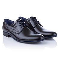 Стильные мужские туфли Tapi (модные, на шнурках, с оригинальной синей окантовкой подошвы, удобные, комфортные)