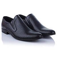Туфли мужские темно синие Tapi (с перфорацией, стильные, легкие практичные, модные, удобные, комфортные)