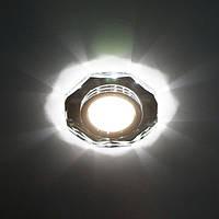 Встраиваемый светодиодный светильник (точечный) Feron 8020-2 LED с подсветкой