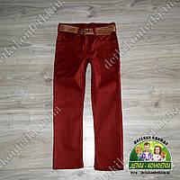 Бардовые джинсы для мальчика подростка