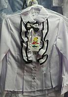 """Детская школьная блузка """"Рюша бант"""""""