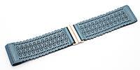 Синий женский широкий ремень-резинка