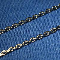 Цепь серебро Якорная черненая 45 см C-07