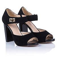 Черные босоножки на толстом каблуке Mainila (элегантные, изысканные, стильные, модные, комфортные)