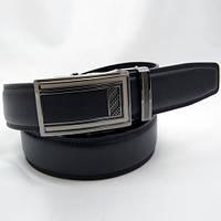 Ремень кожаный мужской удлиненный Alon черный (2954)