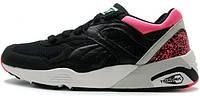 Мужские кроссовки Puma Trinomic R698 (пума триномик) черные