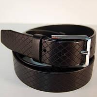 Ремень кожаный мужской JK черный (3188)