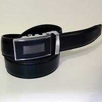 Ремень кожаный мужской Alon HD45159 черный (6322)
