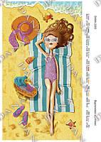 """Схема для вышивания бисером """"Отдых на пляже"""" 2203"""