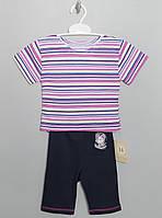 """Костюм для девочек футболка+трессы, """"Кулир"""" от 11 месяцев-3 лет, 0814Gerda В наличии 80,92,104 Рост"""