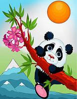 Детская раскраска на холсте Озорная панда (7130) 18 х 24 см