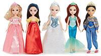 Набор 5 кукол принцессы Дисней 25 см. Золушка, Русалка, Белоснежка,