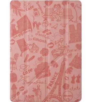 """Чехол для планшета """"Париж"""" девушкам OZAKI O!coat Travel iPad Pro 9.7"""" Paris OC131PR розовый"""