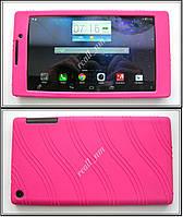 Розовый силиконовый чехол-бампер для планшета Lenovo Tab 2 A7-20F