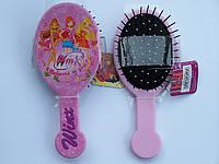 Расческа  для девочки массажная детская, феи Winx, ВИНКС, розовая