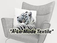 "ФотоПодушка ""Белый Тигр"" 40*40 см"