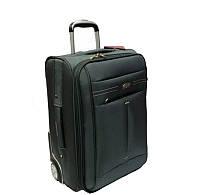 Средний турецкий чемодан на двух прорезиненных колёсах фирмы CCS
