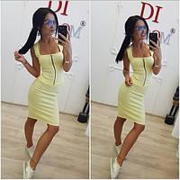 Женский красивый деловой костюм: блуза+юбка в расцветках
