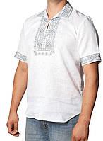 Вышитая рубашка с короткими рукавами