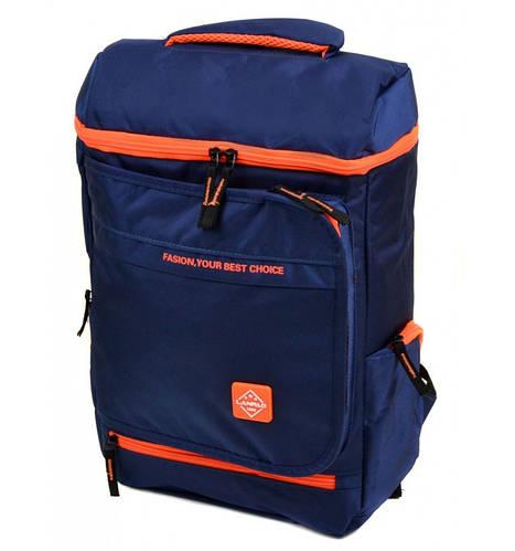 Городской рюкзак с уплотненной спинкой текстиль Lanpad 20 л. 1830-bls blue (синий)
