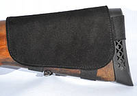 Патронташ на приклад замшевый коричневый черный
