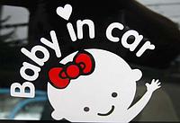 """Виниловая наклейка Ребенок в машине """"Baby in car"""", девочка"""