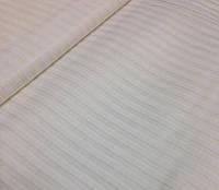 Хлопковая ткань польская атласная полоска на белом
