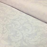 Хлопковая ткань польская атласные цветы на белом
