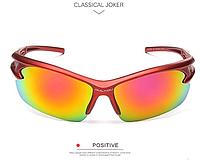 Мужские солнцезащитные очки спортивные краснаяоправа пластик, Очки для спорта, для велосипеда