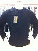 Мужской свитер ромбики,рукав полоски