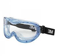 Защитные очки 3М Farenheit 71360-00001M панорамные закрытого типа, антизапотевающие, оправа - мягкая ПВХ