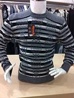 Мужской свитер орнамент,полоска