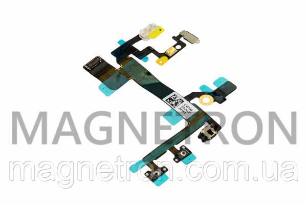 Шлейф с кнопками включения, боковыми клавишами и микрофоном для телефонов Apple iPhone 5S, фото 2