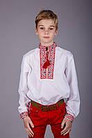 Классическая вышиванка детская Михаил красная