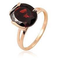 Золотое кольцо с большим гранатом