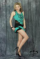 "Костюм ""Манго""-бирюза (майка+юбка-шорты) 2000000010700; цвета: бирюза,"