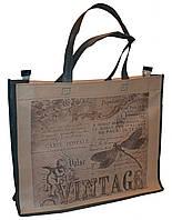 Эко-сумка из натурального материала с котиками